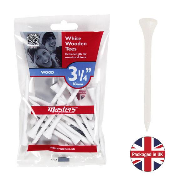 Wood Tees 3 1/4 White Bag 15