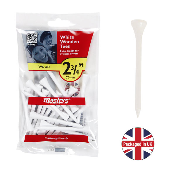 Wood Tees 2 3/4 White Bag 20