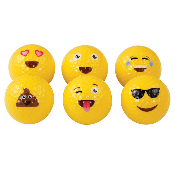 Assorted Emoticon Balls Pack 36