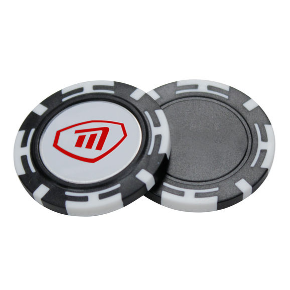 Poker Chip With Magnetic Ball Marker
